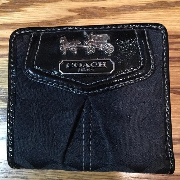 Coach Handbags - Small Black Coach Wallet